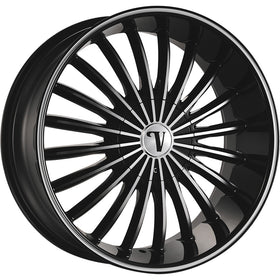 26x9.5 Black Machined Wheel Velocity VW11-M 5x5 5x5.5 13