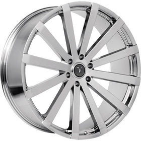 28x10 Chrome Wheel Velocity VW12B 6x135 25
