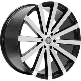 30x10 Black Machined Wheel Velocity VW12B-M 6x5.5 25