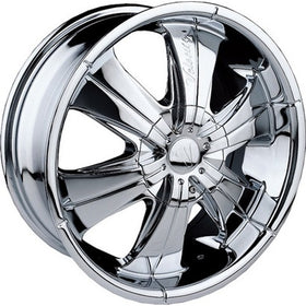 24x9.5 Chrome Wheel Velocity VW166 5x115 5x120 13