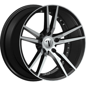 17x7 Black Wheel Velocity VW20R-M 5x4.5 38