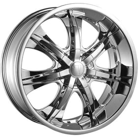 28x10 Chrome Wheel Velocity VW725 6x5.5 13