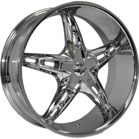 24x9.5 Chrome Wheel Velocity VW930 5x115 5x120 13