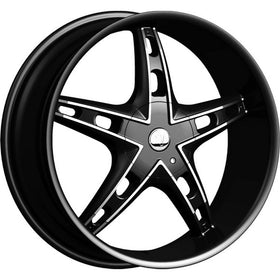 26x9.5 Black Wheel Velocity VW930-M 5x115 5x120 13