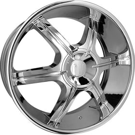 24x9.5 Chrome Wheel Velocity VW935 5x115 5x5 13