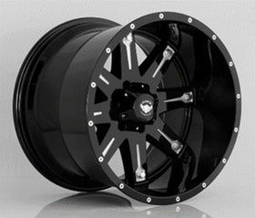 GIMAOFFROAD9 OVERDRIVE 17*9 MATTE BLACK+MACHINE POCKETS