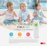 Fora Forehead Thermometer. One Touch operation, 30 memory storage, fever and over-range warning
