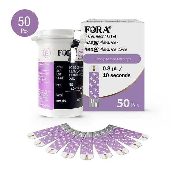 FORA 6 Connect Blood Ketone Test Strips (50 pcs)