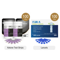 Fora 6 Connect Ketone Kit (with 100 Ketone Strips)