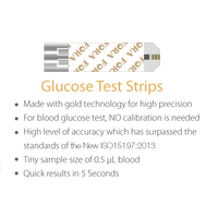 FORA 6 Connect Blood Glucose Test Strips (100 test strips with 100 lancets)