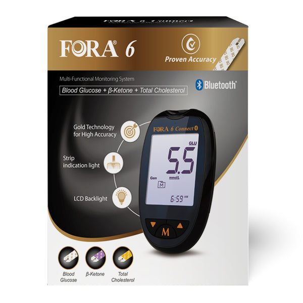 Fora 6 Connect Starter's kit (with 100 blood glucose and 50 ketone strips)