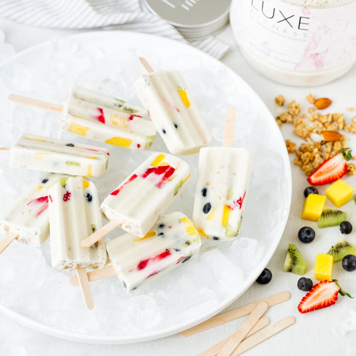 Vanilla & Coconut Protein Fruit Ice Blocks