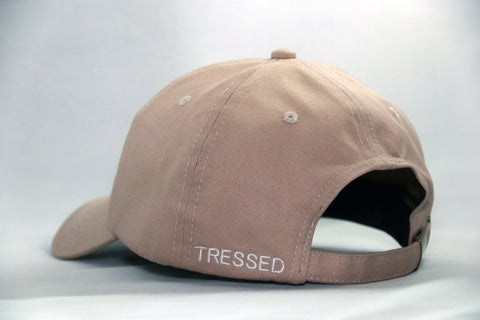 Tressed Satin Lined Hat - Nude