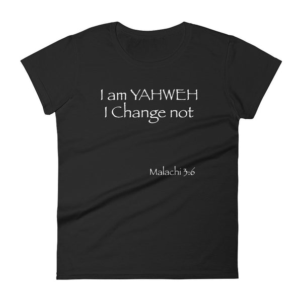 Women's short sleeve t-shirt with Yahweh name - Necklace for Her