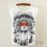 Vintage Spring Summer T Shirt for Women Clothing Tops - Necklace for Her