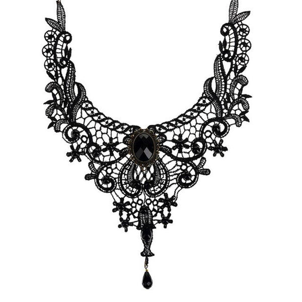 Fashion Necklaces For Women Beauty Girl Handmade Jewerly Gothic Retro Vintage Lace Necklace Collar Choker Necklace bib gem chain - Necklace for Her