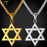 Star of David Pendant - Unisex - 4.5cm length - 4 color available - Necklace for Her