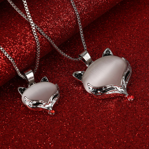 Necklace Silver Color Fox Cat Women Necklaces & Pendants - Necklace for Her