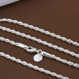 Twisted chains necklaces 925 sterling sivler - Necklace for Her
