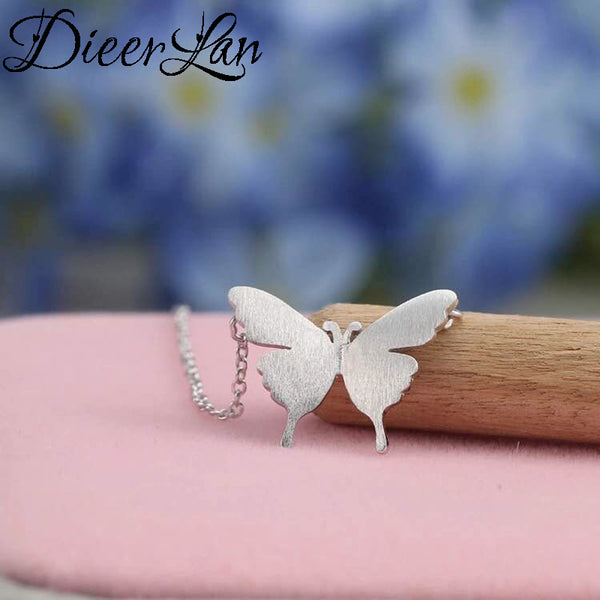 New Arrivals 925 Sterling Silver Butterfly Necklaces & Pendants For Women Fashion sterling-silver-jewelry - Necklace for Her