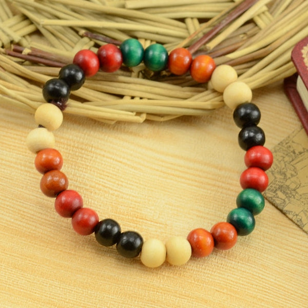 Hot sale fashion Ethnic style series of new color wooden bead stretch bracelet lap small beads jewelry special wholesale - Necklace for Her