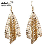 adolph Star Jewelry Charm Sequin Drop Earrings New Geometric Round Shiny Dangle earring jewelry women sales - Necklace for Her