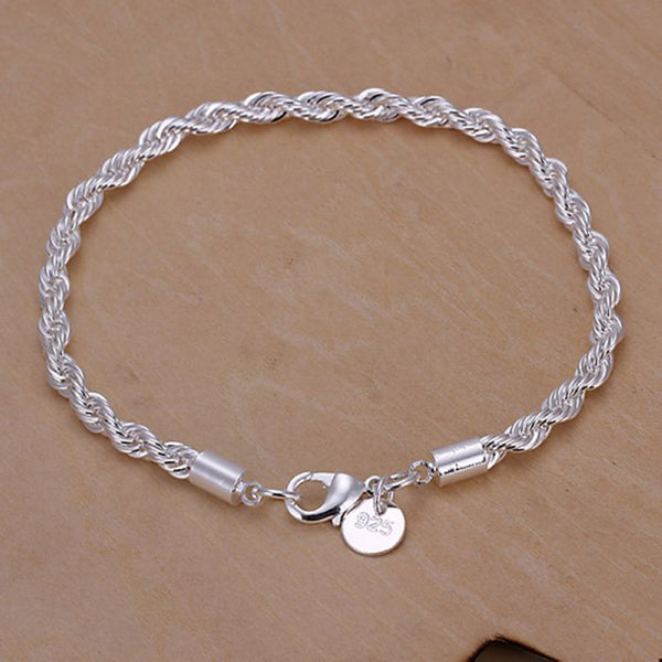 "925 Silver plated  jewelry Bracelets for Women - 7.5""-8"" length - Link Chain - Necklace for Her"