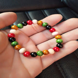 New wooden bead stretch bracelet lap small beads jewelry - Unisex - Necklace for Her