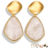 17KM New Gold Korean Earrings 2019 For Women Lover Fashion Drop Round Heart Dangle Earring Wedding Geometric Jewelry Wholesale - Necklace for Her