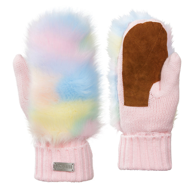 Fuzzy Faux Fur Mittens - Juniors