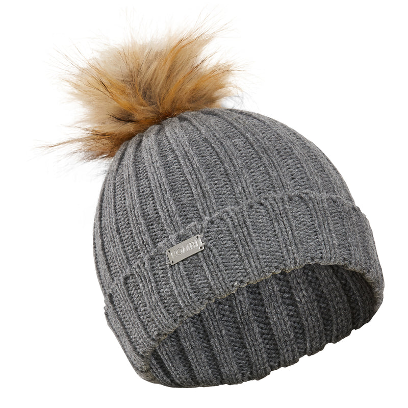 Graceful Faux-Fur Pompom Toque - Women