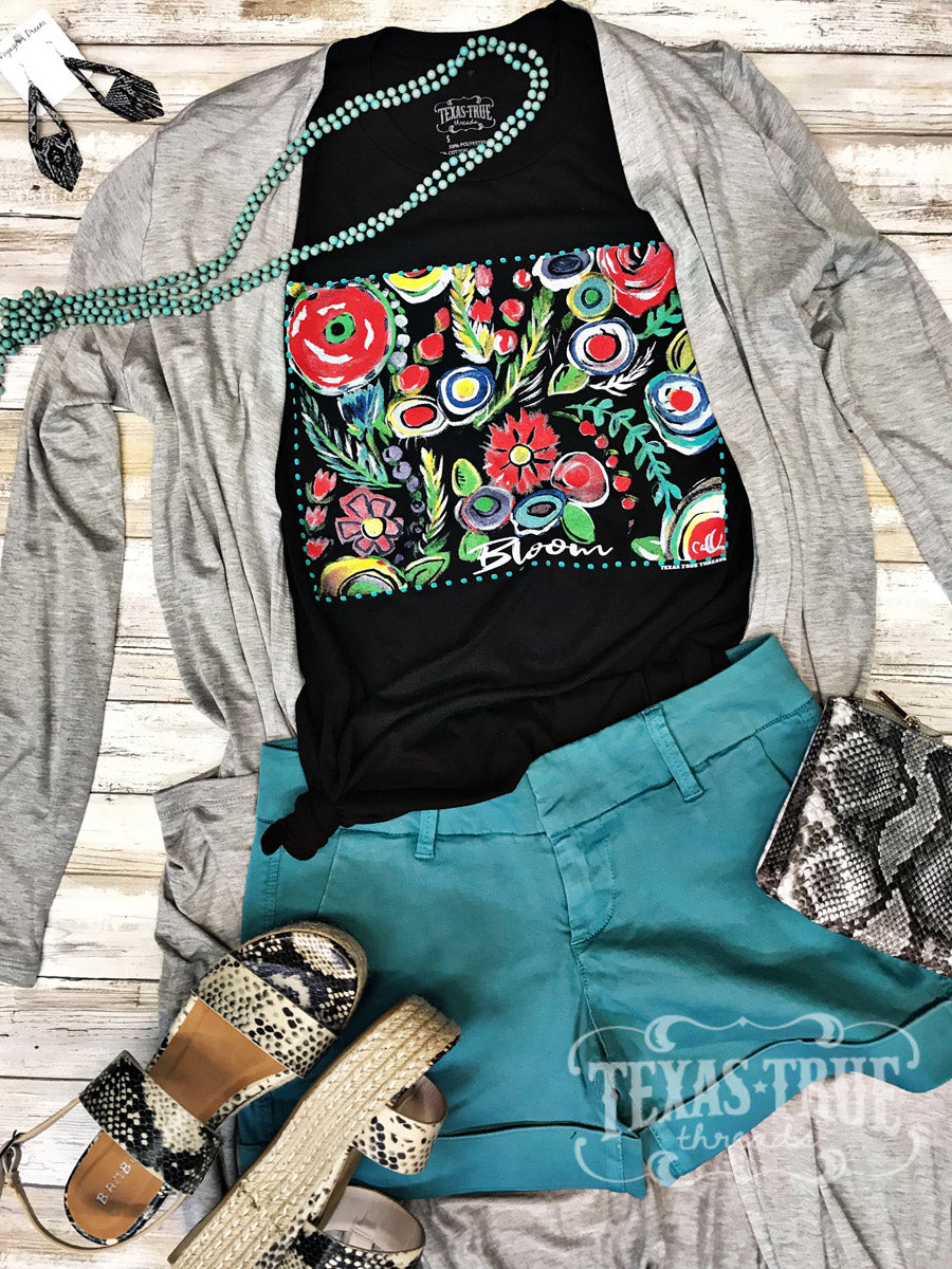 Bloom Art by Texas True Threads Graphic Tees  Texas True Threads - Horse Creek Boutique