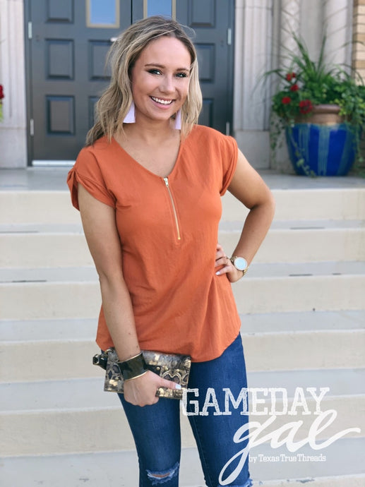 Star Zipper Blouse by GameDay Gal