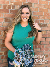 Jill Wavy Tank by Gameday Gal Tops  Texas True Threads - Horse Creek Boutique