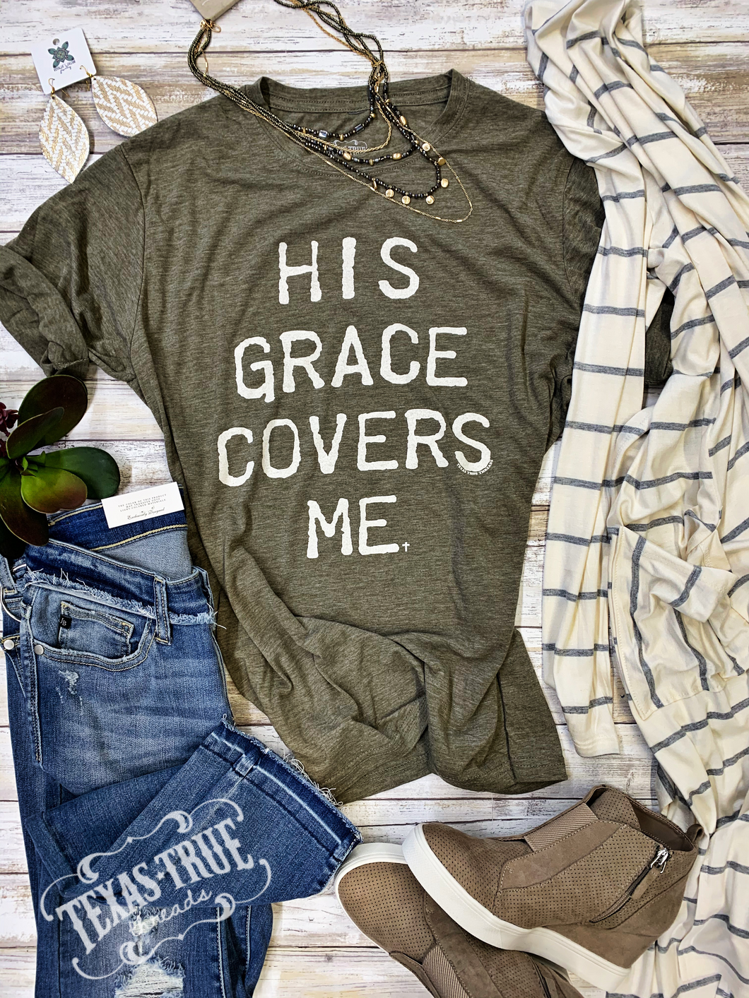 His Grace Covers Me by Texas True Threads Graphic Tees  Texas True Threads - Horse Creek Boutique