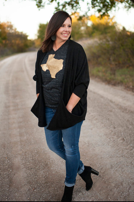 Gold Glitter Texas Tee by Texas True Threads Graphic Tees  Texas True Threads - Horse Creek Boutique