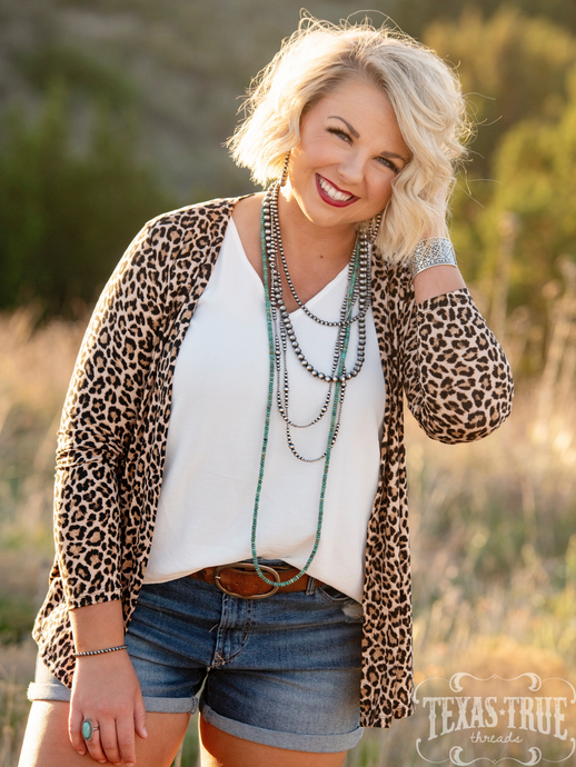 Kris Leopard Cardigan by Texas True Threads