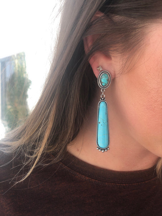 Julie Turquoise Drop Earring