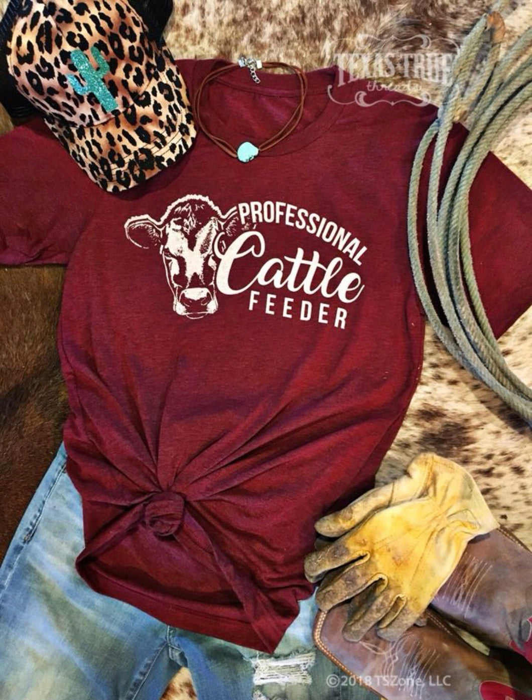 Professional Cattle Feeder by Texas True Threads Graphic Tees  Texas True Threads - Horse Creek Boutique