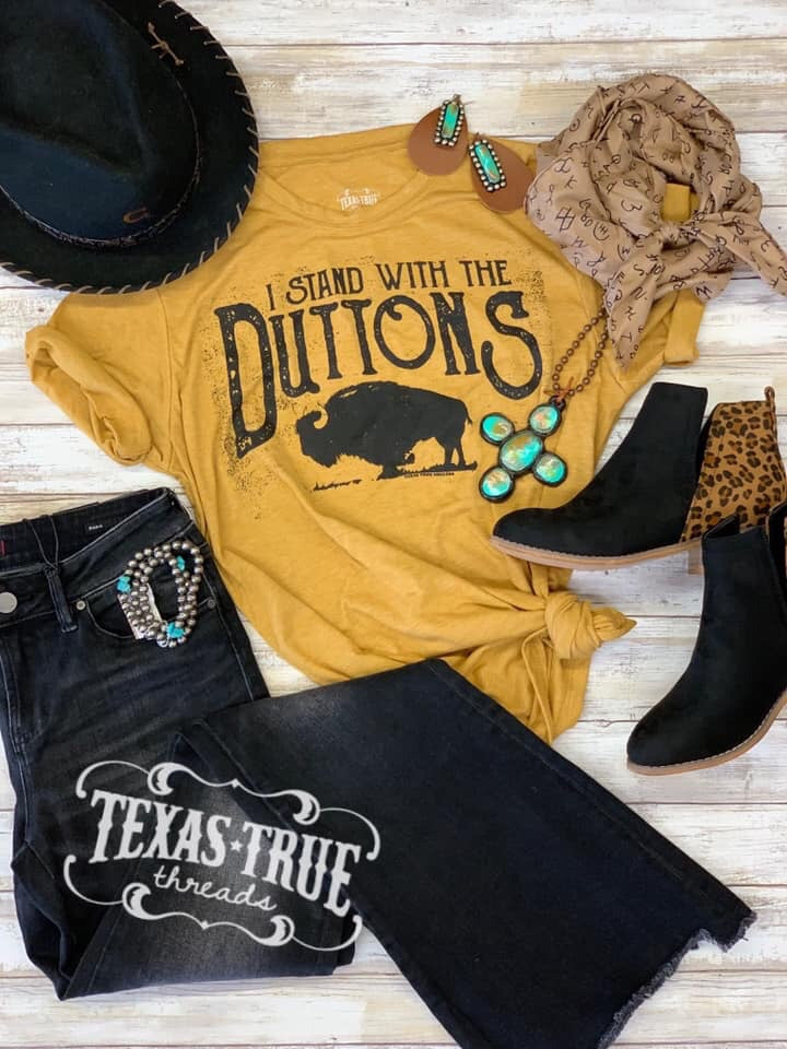 I Stand With the Duttons Tee by Texas True Threads Graphic Tees  Texas True Threads - Horse Creek Boutique