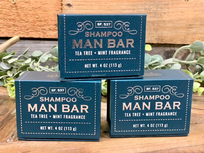 Shampoo Man Bar Tea Tree & Mint