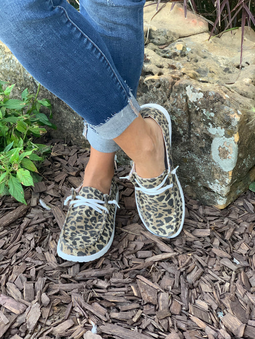 Holly Leopard Canvas Sneaker