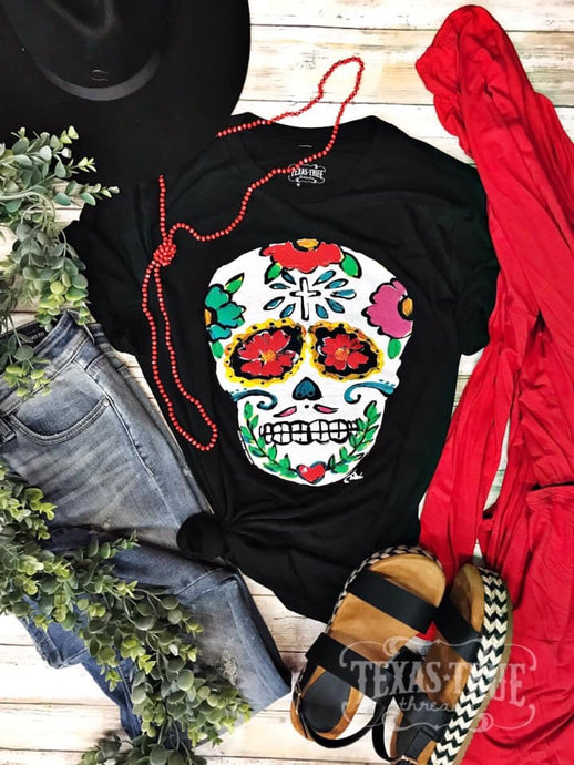 Colorful Skull by Texas True Threads Graphic Tee  Texas True Threads - Horse Creek Boutique