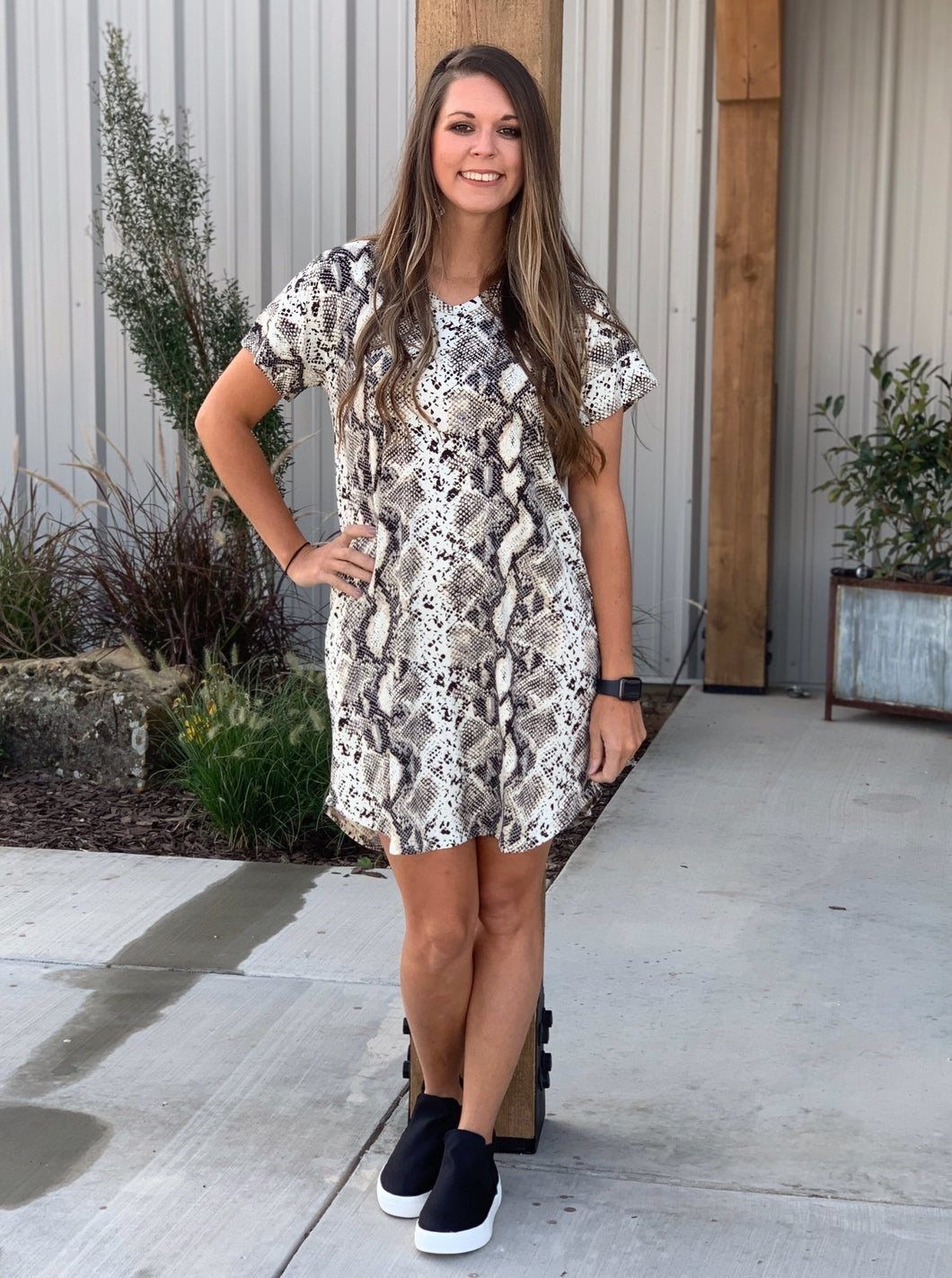 Gracie Snakeskin Dress