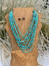 Nelly Turquoise Multi Strand Necklace