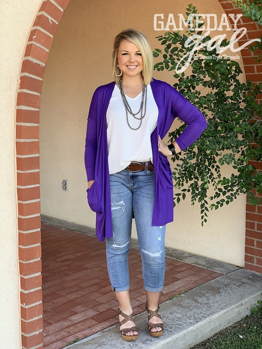 The Solid Cardigan by GameDay Gal Outerwear  Horse Creek Boutique - Horse Creek Boutique