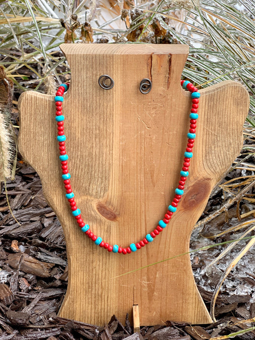 Eli Red and Turquoise Necklace
