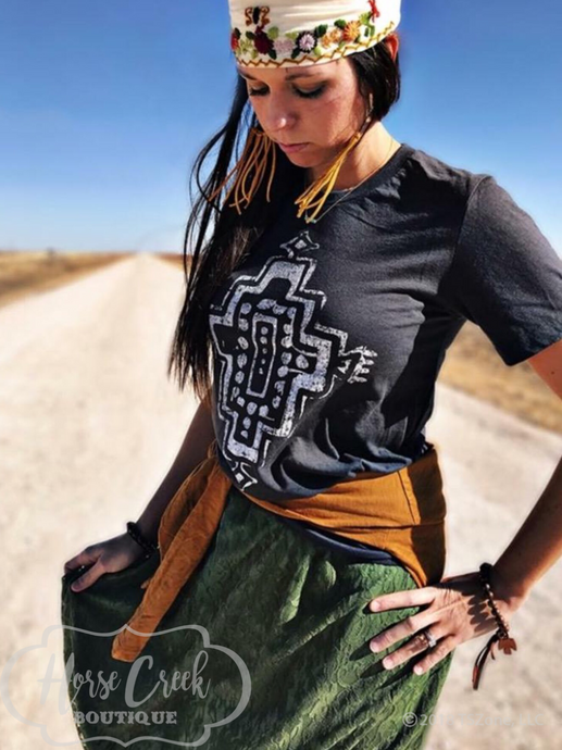 Boho Aztec Tee by Texas True Threads Graphic Tees  Texas True Threads - Horse Creek Boutique