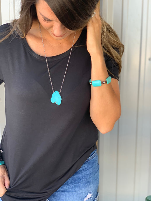 Hannah Turquoise Stone Necklace