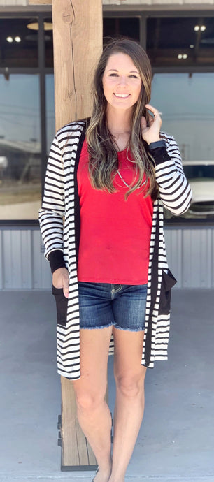 Maggie Striped Cardigan